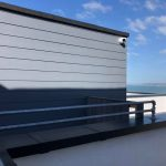 Ocean view property security camera