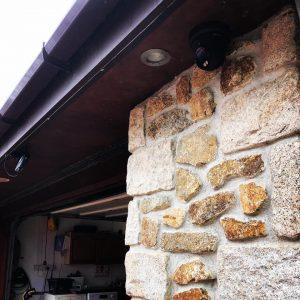 Security camera outside garage