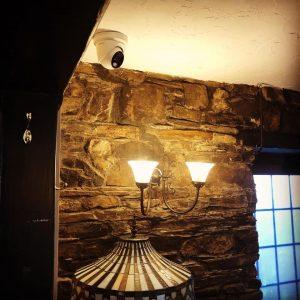 Ceiling camera indoors